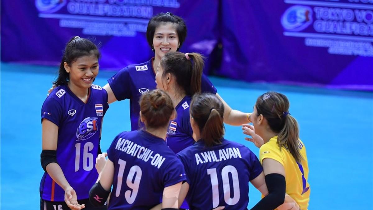 """คาซัคสถาน ลูกยางสาวไทย วอลเลย์บอลรายการ """"เอสโคล่า"""" วอลเลย์บอลหญิง """"โตเกียว 2020"""" รอบคัดเลือก โซนเอเชีย วอลเลย์บอลหญิงทีมชาติไทย โอลิมปิก เกมส์ 2020"""