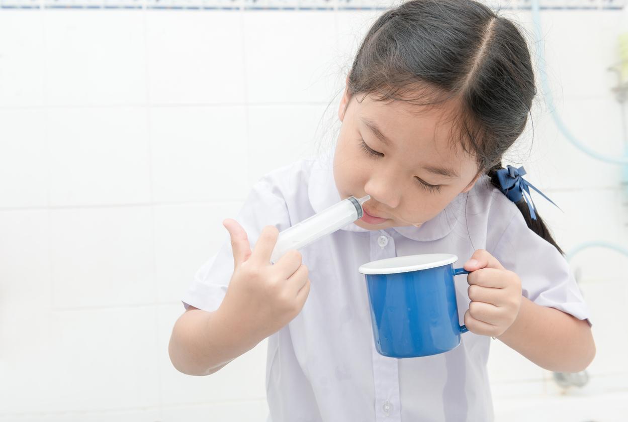 วิธีล้างจมูก วิธีล้างจมูกด้วยน้ำเกลือ