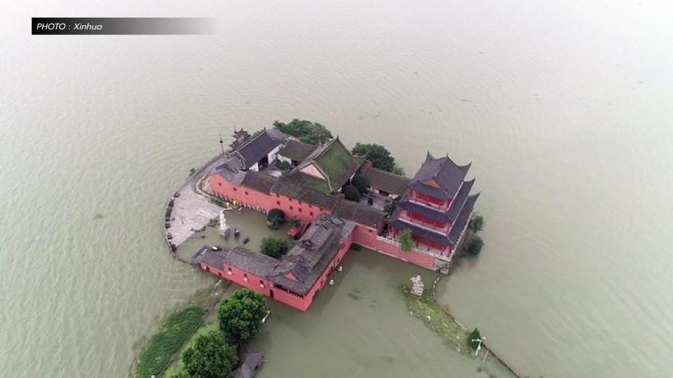 น้ำท่วม น้ำท่วมในจีน มณฑลอันฮุย