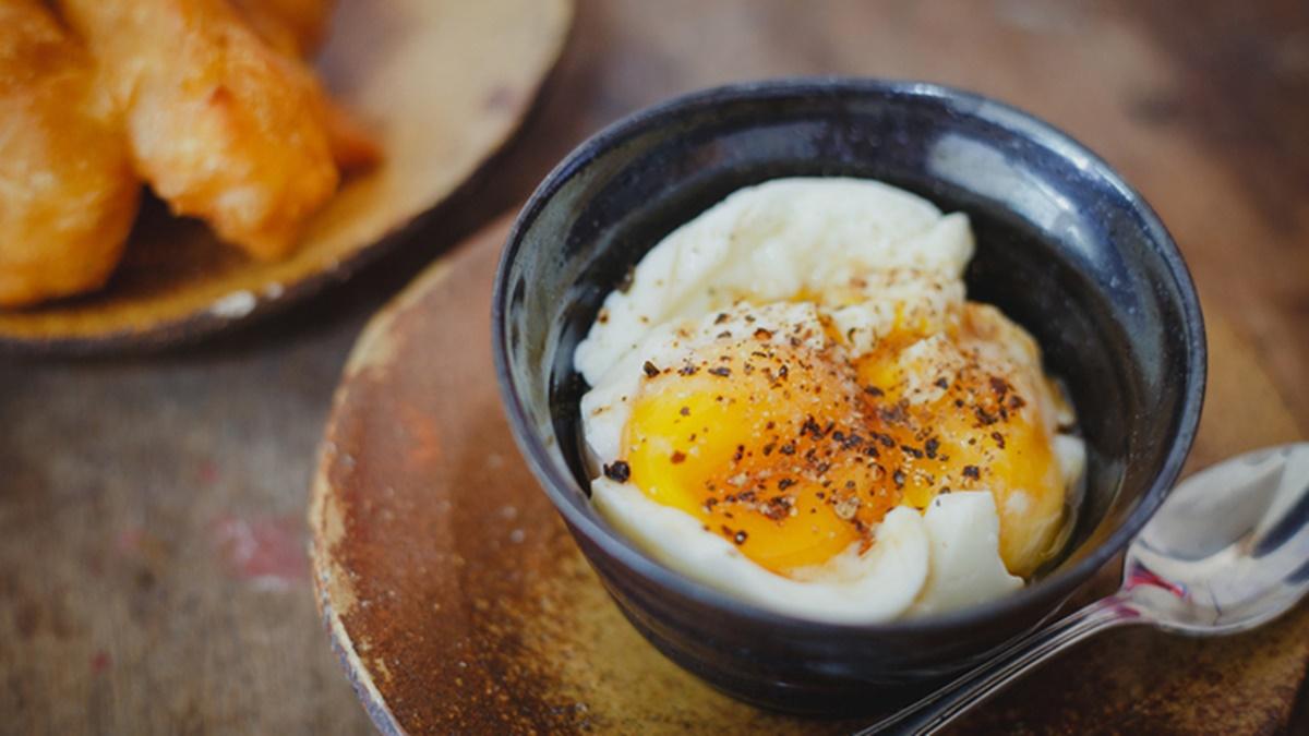 food เมนูอาหาร ไข่ลวก