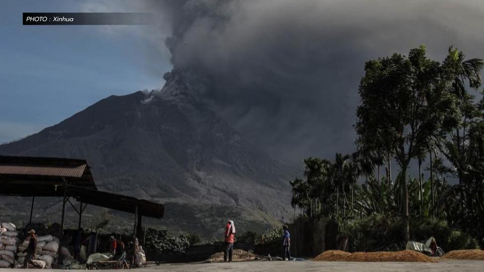 ภูเขาไฟซินาบุง ภูเขาไฟระเบิด อินโดนีเซีย