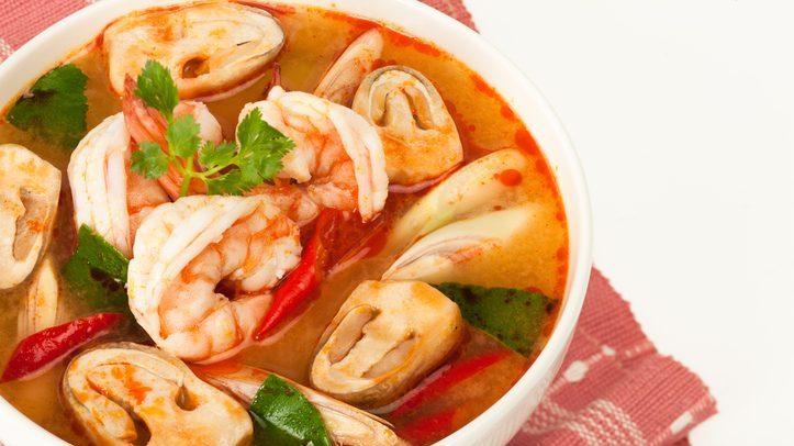 food ต้มยำกุ้งน้ำข้น อาหารไทย
