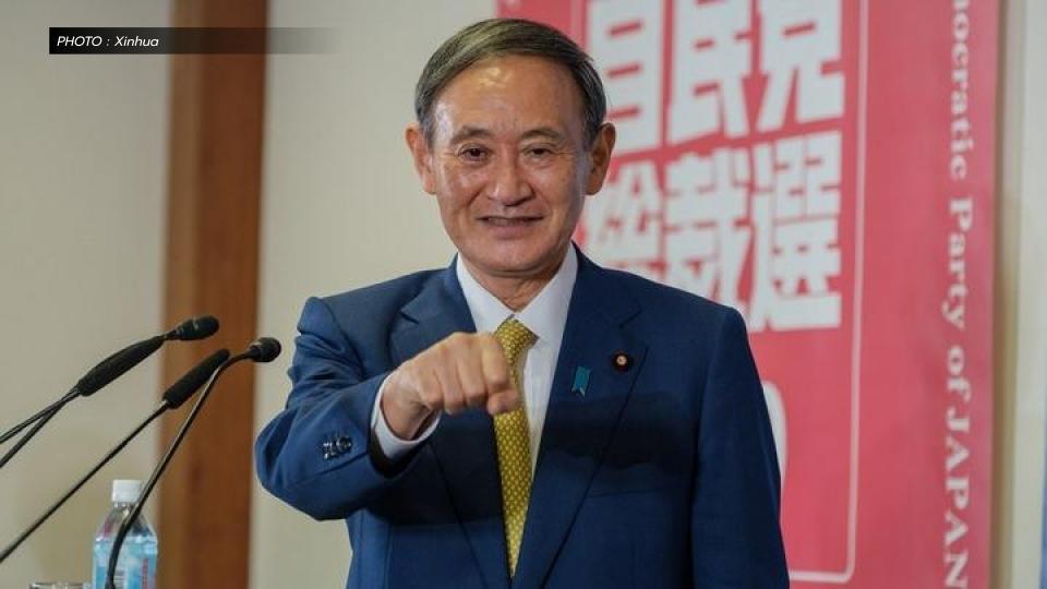 ชินโซ อาเบะ นายกรัฐมนตรีญี่ปุ่น โยชิฮิเดะ สุงะ