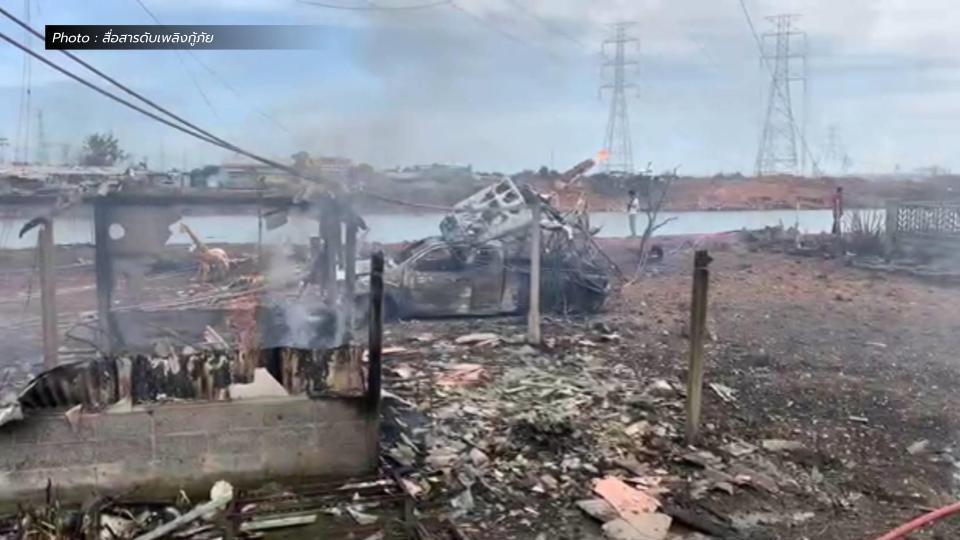 ท่อก๊าซระเบิด ปตท. ไฟไหม้บางบ่อ