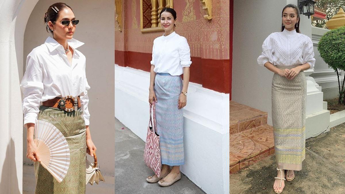 ชุดไทย ผ้าซิ่น ผ้าถุงไทย ผ้าไทย แฟชั่นผ้าถุง แฟชั่นผ้าถุงไทย แฟชั่นผ้าไทย