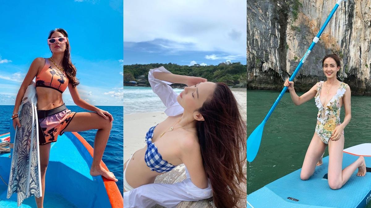 ชุดว่ายน้ำ ท่าโพสต์ถ่ายรูป แฟชั่นชุดว่ายน้ำ แฟชั่นดารา