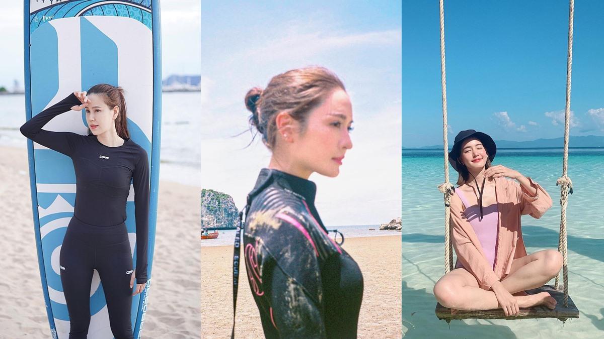ชุดว่ายน้ำ ชุดว่ายน้ำนางเอก นางเอกเรียบร้อย นางเอกในชุดว่ายน้ำ