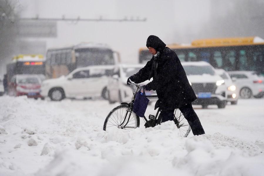 จีน พายุหิมะ เตือนภัย