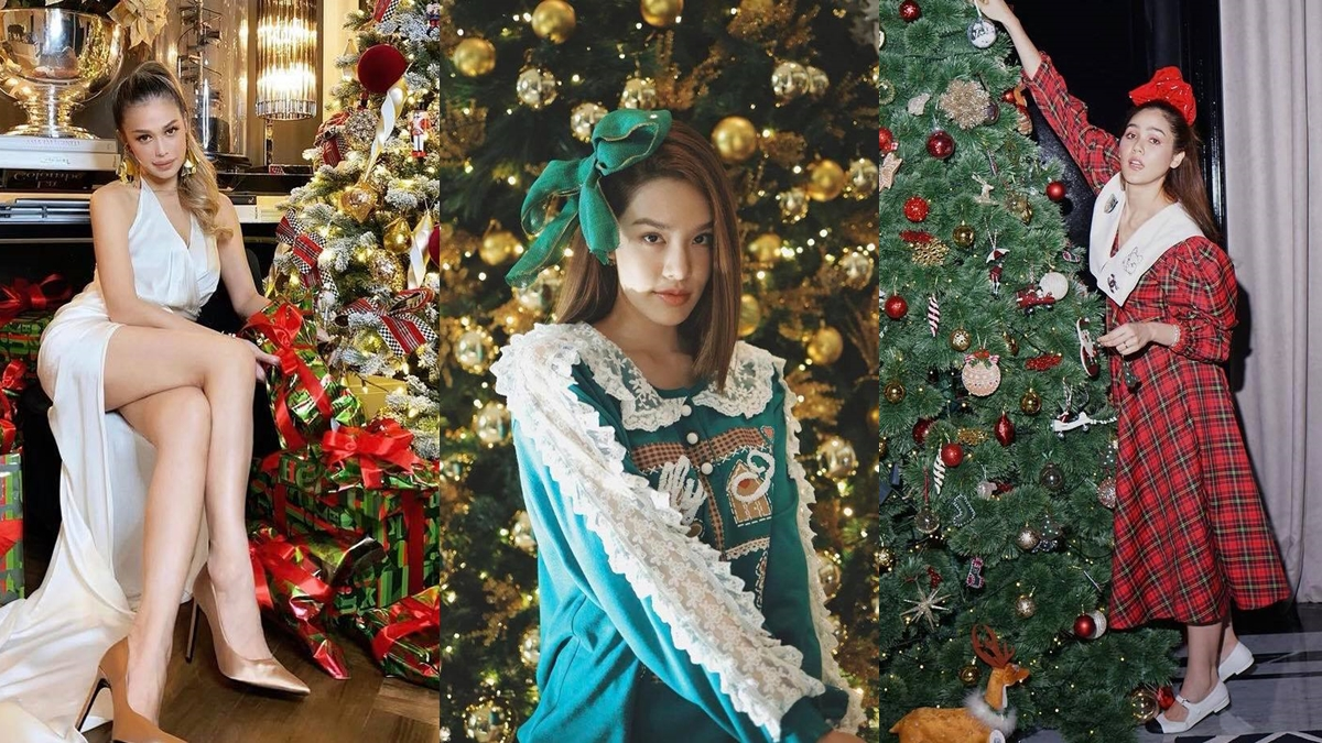 ท่าโพสต์ถ่ายรูป วันคริสมาสต์ แฟชั่นดารา