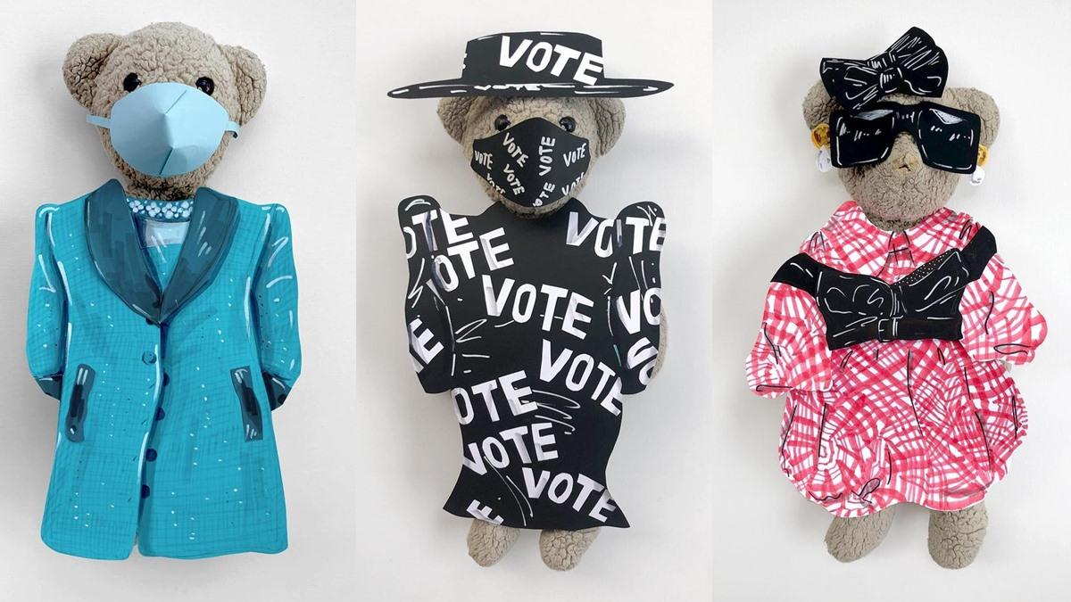 JJ เทดดี้แบร์ ตุ๊กตาหมี เทดดี้แบร์ แต่งตัวจัด แฟชั่นเสื้อผ้า แฟชั่นไอคอน