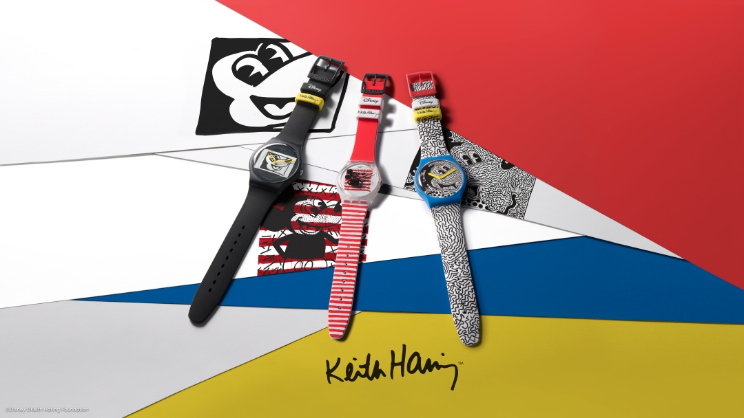 Disney Keith Haring MICKEY MOUSE swatch นาฬิกาข้อมือ