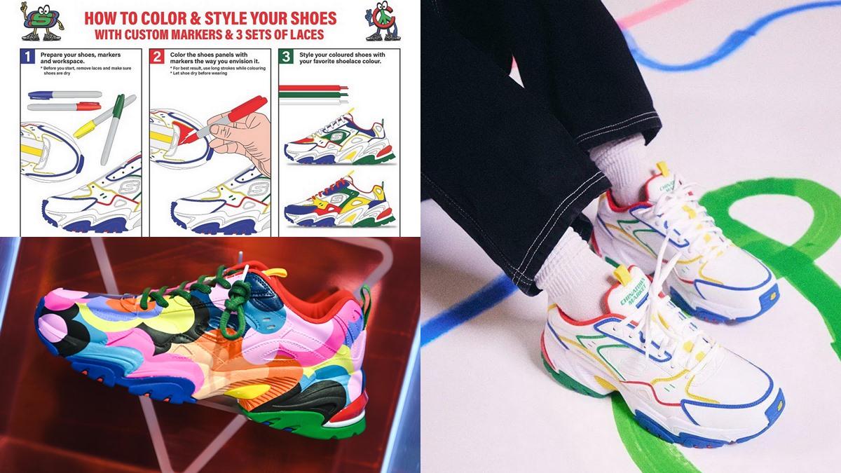DIY DIYรองเท้า รองเท้าผ้าใบ รองเท้าสนีกเกอร์ สนีกเกอร์Chunky แฟชั่นรองเท้าผ้าใบ