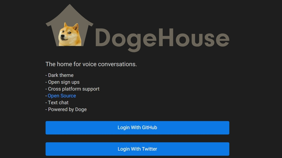 Clubhouse Dogehouse แอปพลิเคชัน