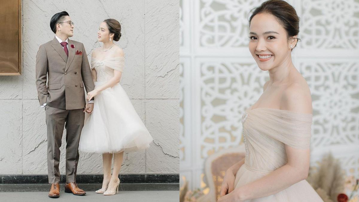 จอย ชลธิชา ชุดเจ้าสาว ชุดเจ้าสาวสั้น ชุดแต่งงานสั้น เจ้าสาวตัวเล็ก
