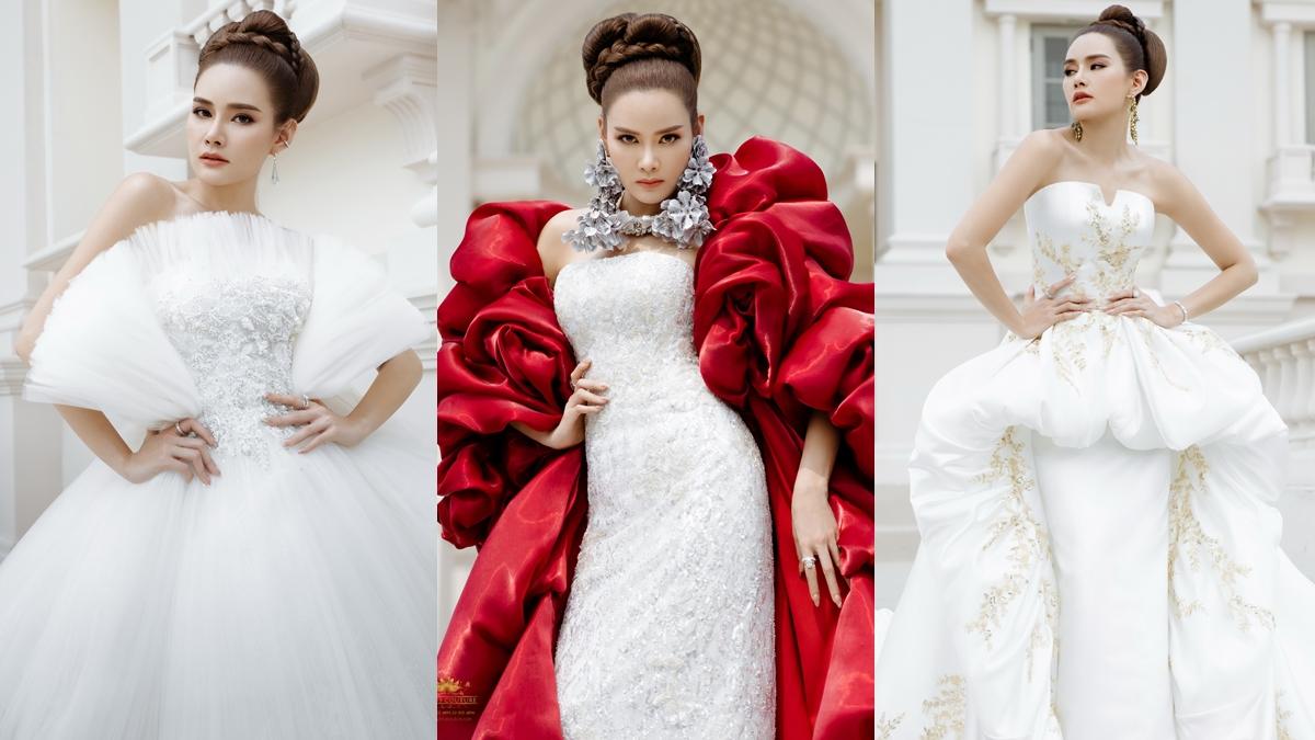 ชุดแต่งงาน ชุดแต่งงานดารา วนัช กูตูร์ หญิง-รฐา โพธิ์งาม