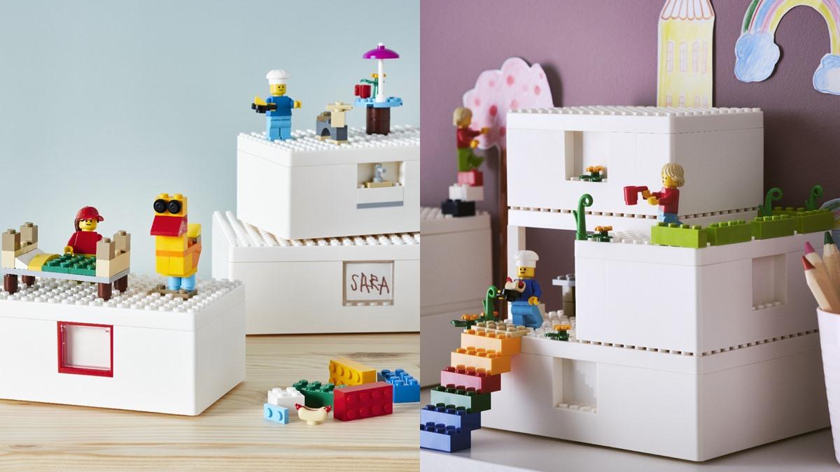 IKEA LEGO กล่องเก็บของเล่น คอลเลคชั่น ตัวต่อเลโก้ เลโก้