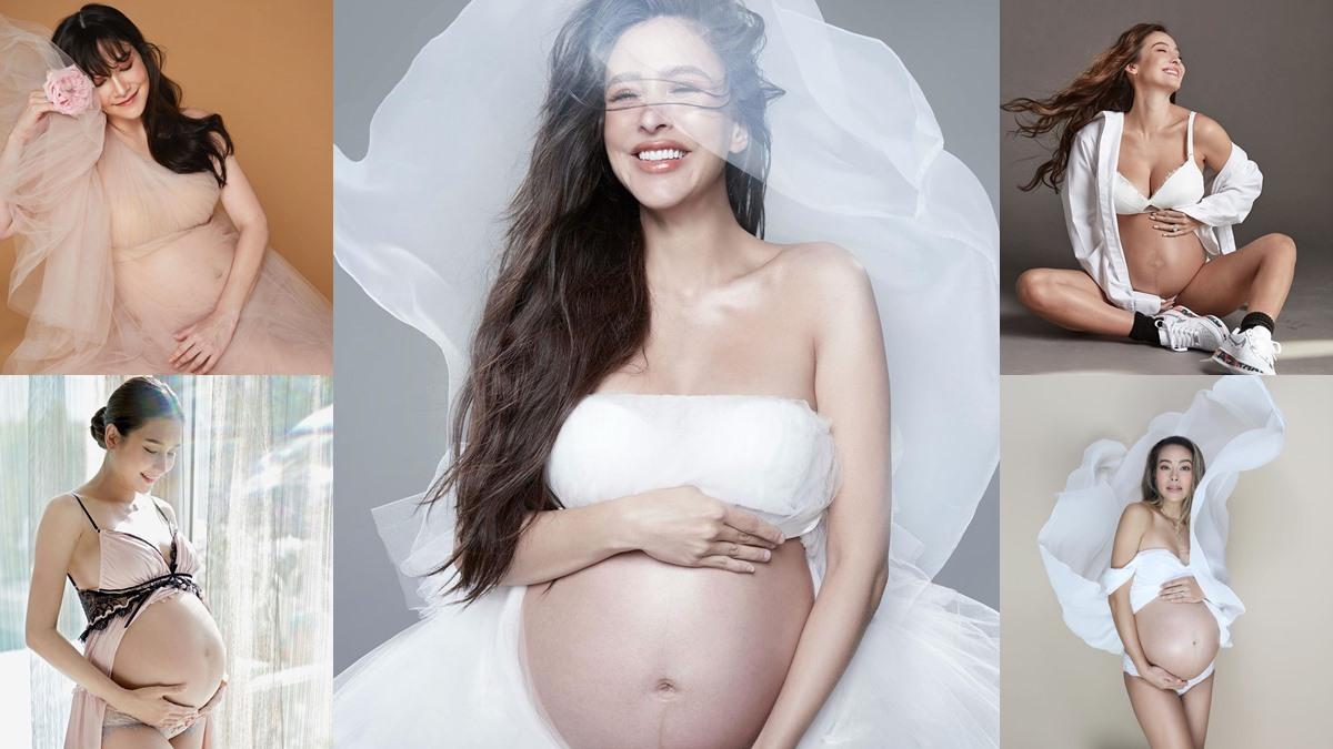 คุณแม่ตั้งครรภ์ ดาราตั้งครรภ์ ตั้งครรภ์ ภาพถ่ายโชว์ท้อง