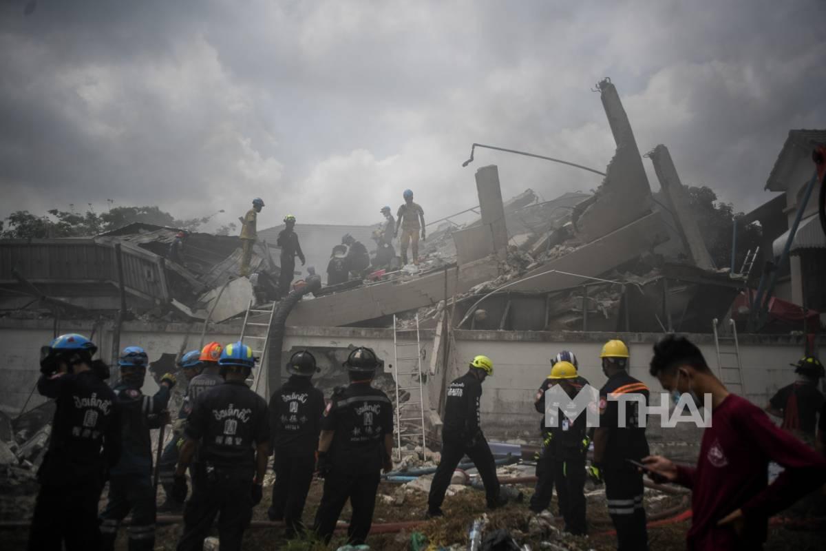พล.อ.ประยุทธ์ จันทร์โอชา อาคารถล่ม ไฟไหม้