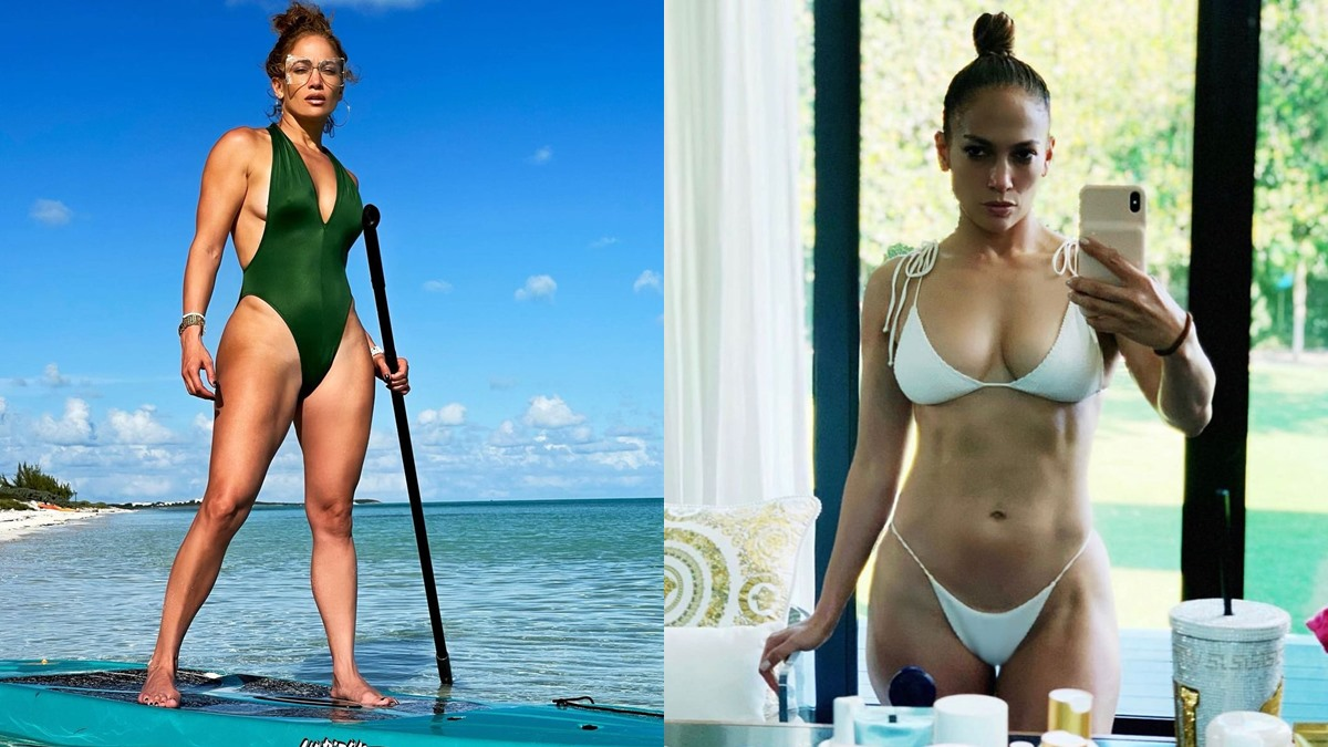 Jennifer Lopez ชุดว่ายน้ำ ซิกแพค อายุ50 เจนนิเฟอร์ โลเปซ