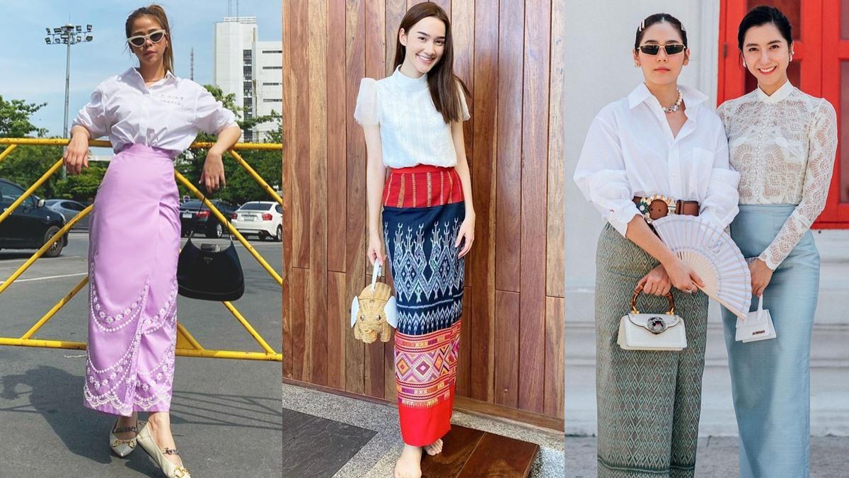 สงกรานต์ แต่งตัวสงกรานต์ แฟชั่นผ้าถุง แฟชั่นผ้าไทย แฟชั่นสงกรานต์