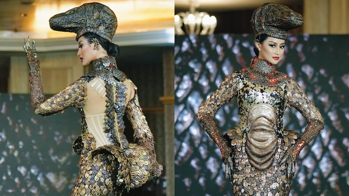 Ayu Maulida ชุดประจำชาติ มังกรโคโมโด มิสยูนิเวิร์ส มิสยูนิเวิร์สอินโดนีเซีย