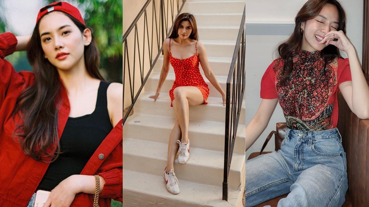 เสื้อผ้าซัมเมอร์ เสื้อผ้าสีแดง แฟชั่นสีแดง แมทช์สีแดง