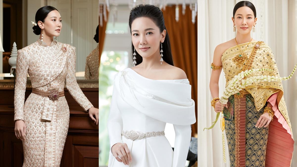ชุดไทยประยุกต์ ชุดไทยโบราณ ดาราใส่ชุดไทย นุ่น วรนุช