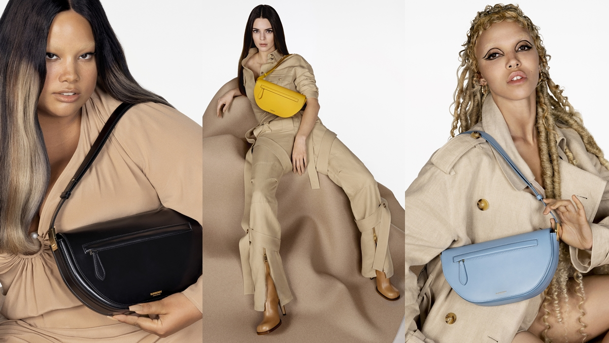 burberry Kendall Jenner The Olympia กระเป๋าแบรนด์เนม