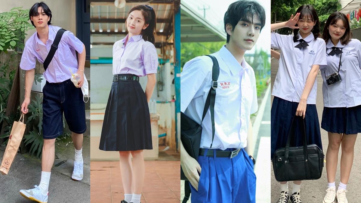 ชุดนักเรียนไทย ประเทศจีน เด็กใหม่ ซีซั่น 2 เทรนด์แฟชั่น แฟชั่นฮิตในจีน