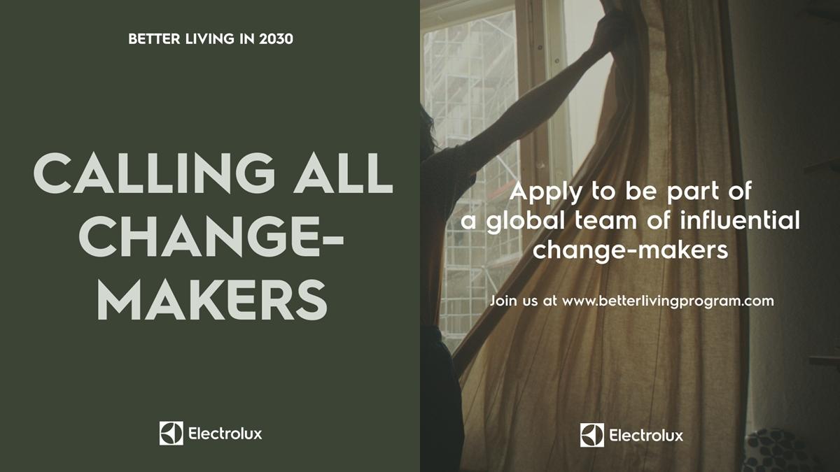 Better Living in 2030 การประกวด อีเลคโทรลักซ์