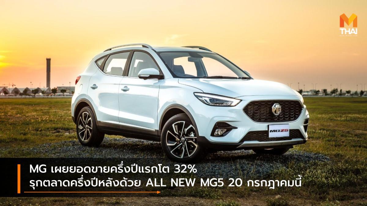 mg MG5 ยอดขายรถยนต์ เอ็มจี