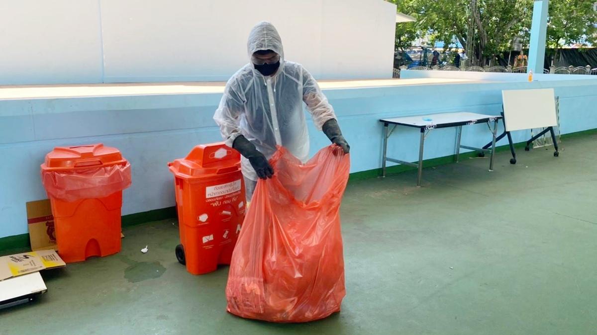 Home Isolation กักตัวที่บ้าน กักตัวโควิด-19 ทิ้งขยะ ทิ้งขยะติดเชื้อ โควิด-19