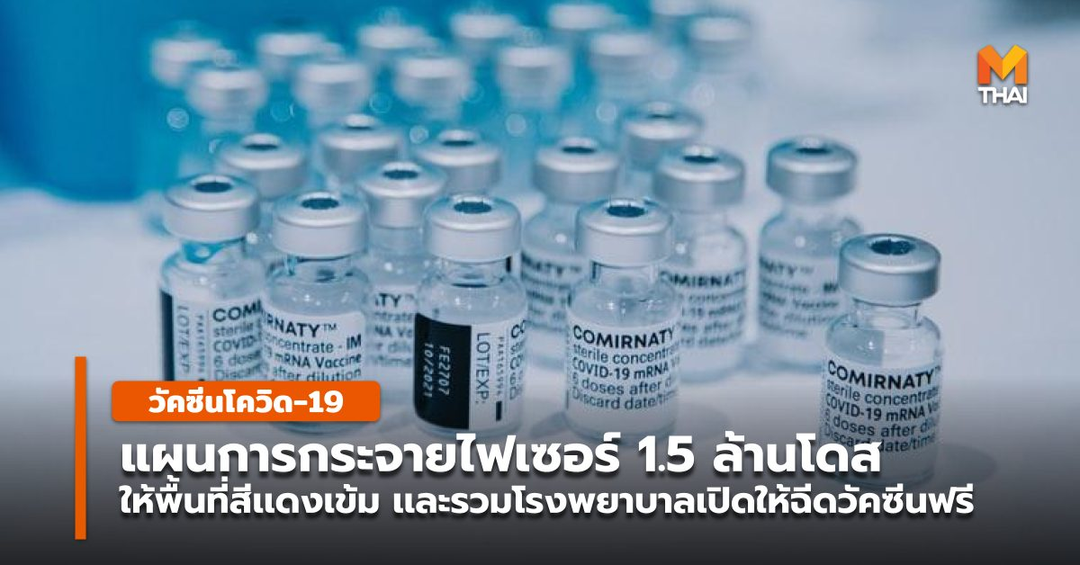 mRNA กทม. จังหวัดควบคุมสูงสุดและเข้มงวด พื้นที่สีแดงเข้ม วัคซีนโควิด-19 วัคซีนไฟเซอร์ โควิด-19