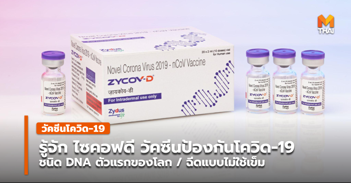 ZyCoV-D วัคซีนป้องกันโควิด-19 วัคซีนโควิด-19 อินเดีย โควิด-19 ไซคอฟดี