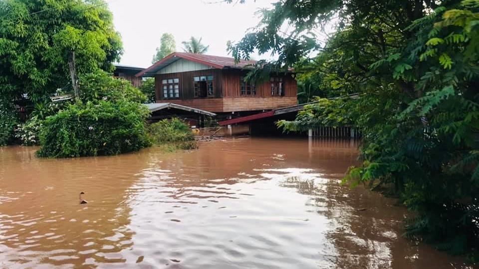 น้ำท่วม น้ำป่าไหลหลาก สถานการณ์น้ำท่วม โกนเซิน
