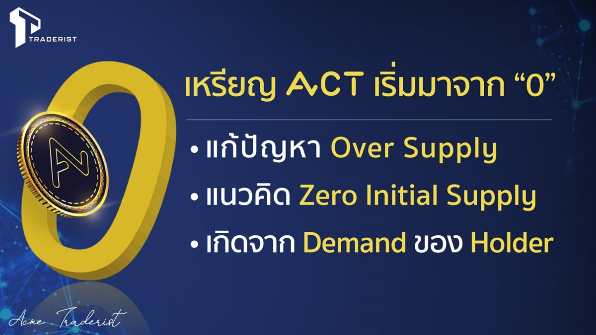 ACME Traderist ACT สกุลเงินดิจิตอล เหรียญ ACT
