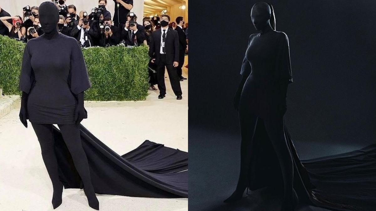 Kim Kardashian Met Gala ชุดเดินพรมแดง พรมแดง