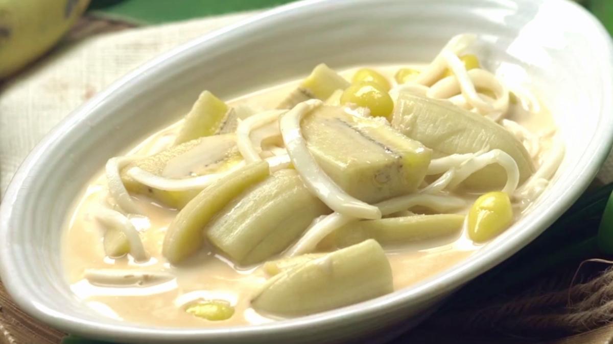 กล้วยนมสดมะพร้าวอ่อน ขนมหวาน ขนมไทย สูตรขนมหวาน สูตรขนมไทย