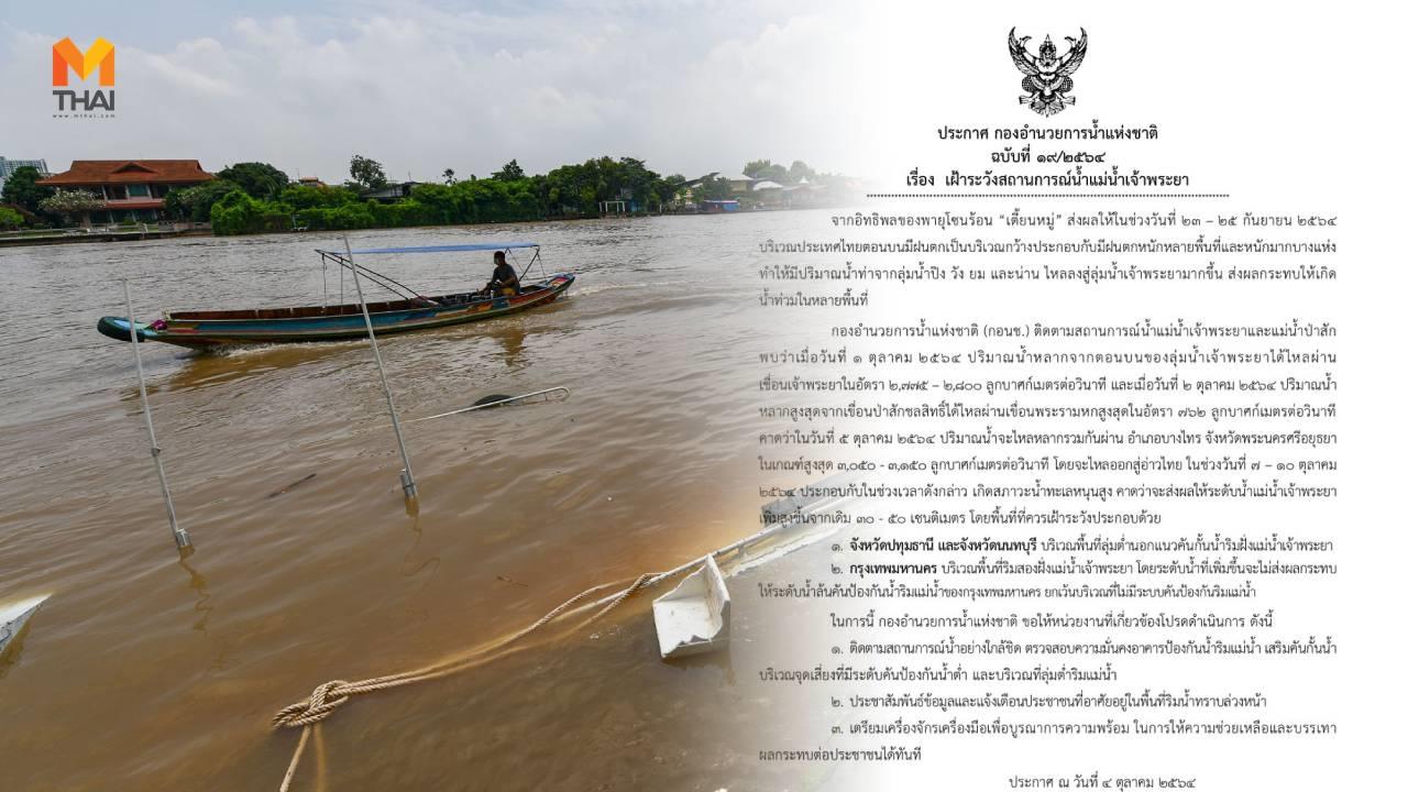 น้ำท่วม น้ำทะเลหนุนสูง สถานการณ์น้ำท่วม
