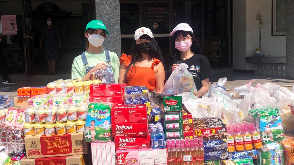 BNK48 ช่วยเหลือผู้ประสบภัยน้ำท่วม